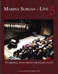 Marina Surgan Live - Piano Scores Book 51 Original Piano Pieces for Barre & Center